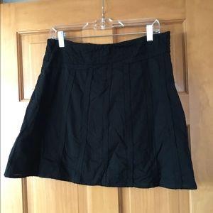 Akini Black Cotton Skirt